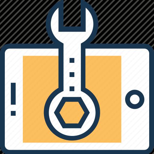 maintenance, repair, service, spanner, technical icon
