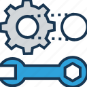 cogwheel, creative service, gear wheel, maintenance, spanner icon