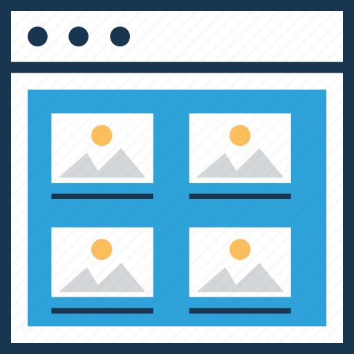 data, online portfolio, ui development, web, wireframe icon