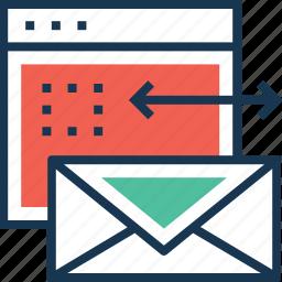 branding, envelope, letter, mail, web icon