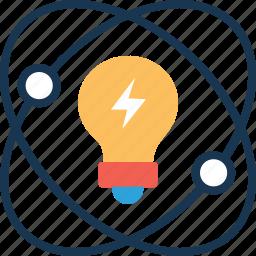 bulb, creativity, electron, innovation, processing icon