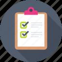 check mark, checklist, list, task, tick icon