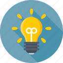 bulb, idea, light, light bulb, luminaire icon