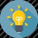light bulb, bulb, luminaire, idea, light icon