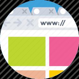 internet, web, web page, website, www icon