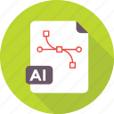 ai, design file, file format, graphic, illustrator icon
