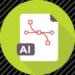 ai, design file, file format, graphic, illustrator icon