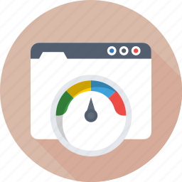 optimization, performance, seo, speedometer, website icon