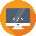 coding, development, html, monitor, programming icon