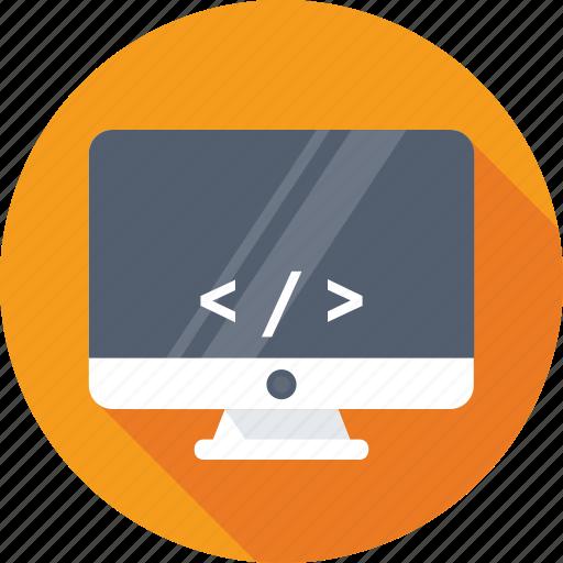 coding, development, html, monitor, programming icon