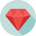 diamond, gem, jewel, premium, quality icon