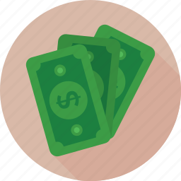 banknotes, cash, finance, money, paper money icon