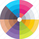 color wheel, colors chart, palette, pantone, swatch icon