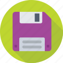 disk, diskette, floppy, floppy drive, storage icon