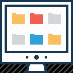data, folder, layout, lcd, monitor icon