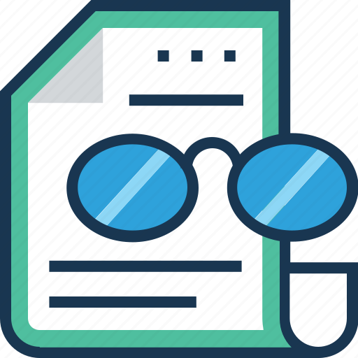 briefing, project, project briefing, spectacles, study icon