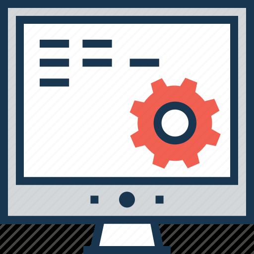 development, optimization, web, web development, web setting icon