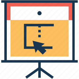easel board, lecture, project screen, projection, seminar icon