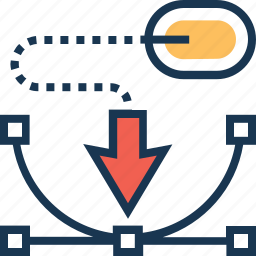 bezier tool, design, graphic, illustration, pen icon
