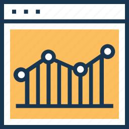 analytics, chart, graph, growth, seo icon