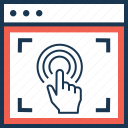 click, ppc, touch, user interaction, webpage icon