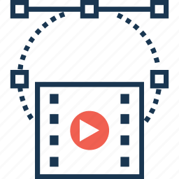 media, movie, multimedia, video, video editing icon