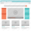 web design and development layout templates icon