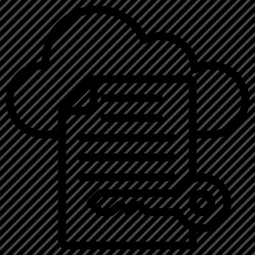 cloud access, cloud computing, cloud document access, cloud key, private cloud icon