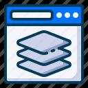 arrange, design, development, layers, page, web