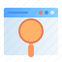 browse, design, development, find, magnifier, search, web