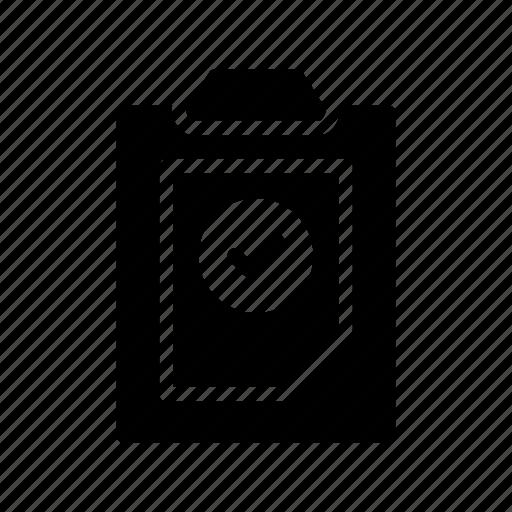 check, clipboard, document, file, tick icon