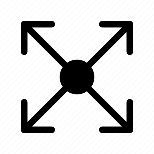 expand, full, maximize, resize, screen icon