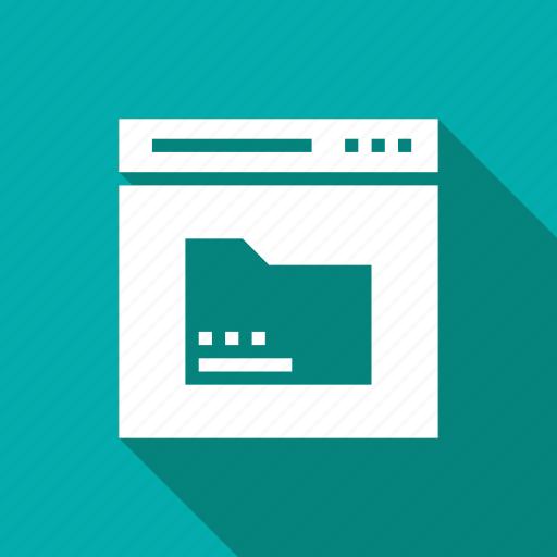 folder, online, web, webpage, website icon