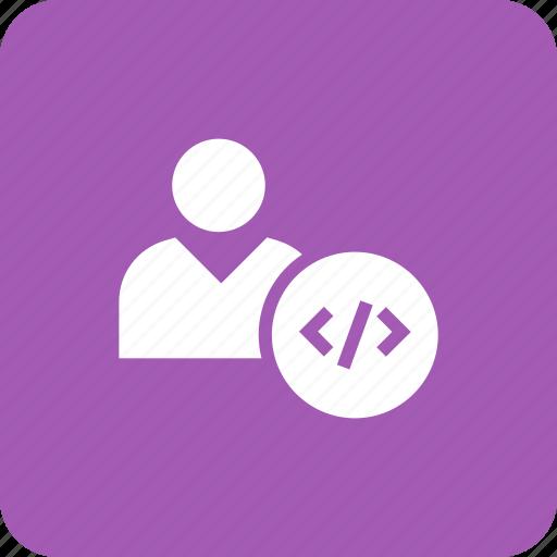 account, code, coding, customer, information, personal, profile icon
