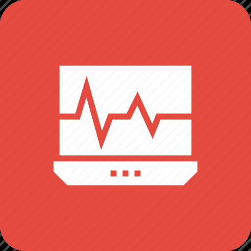 analysis, chart, dashboard, graph, laptop, monitoring, system icon