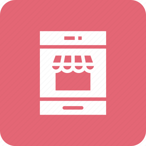 basket, cart, mobile, shop icon