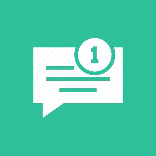 chatting, notice, notification, reminder icon