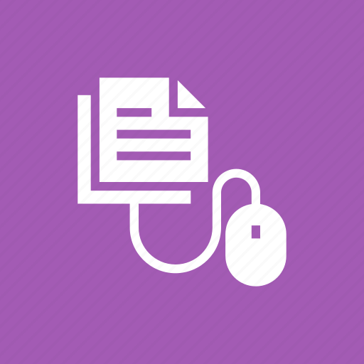 click, communication, documents, file, interaction, interface, mouse icon