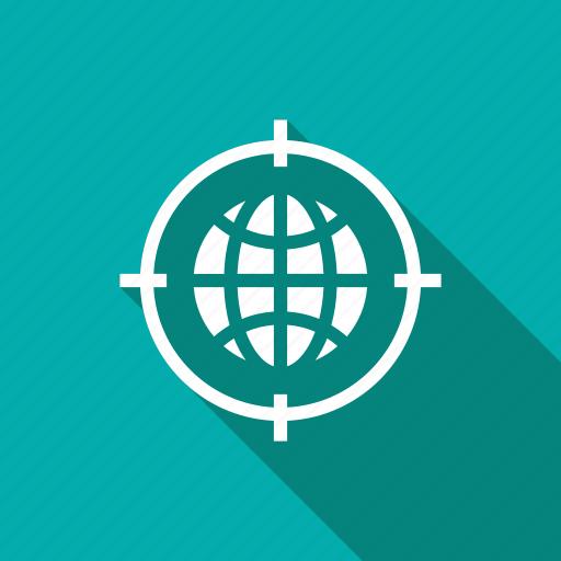business, finance, geo, global, marketing, target icon