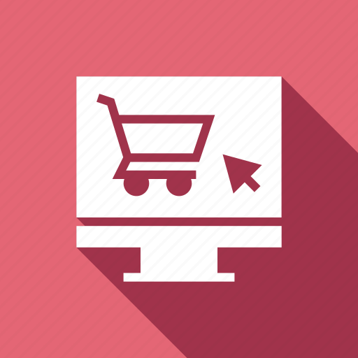 cart, monitor, online, pc, shop, shopping icon