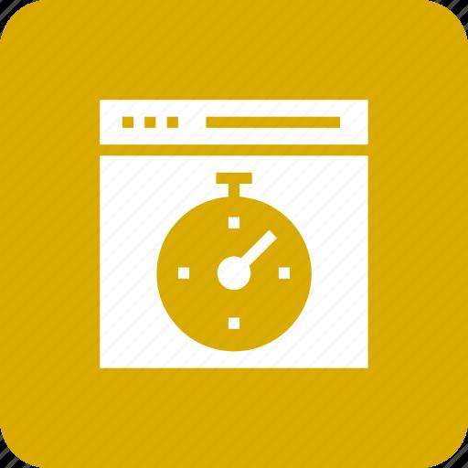 browser, speed, speedometer, stopwatch, web, window icon