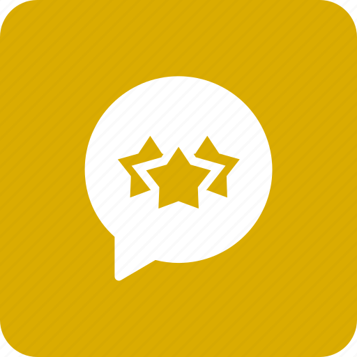 bubble, chat, rank, rate, star icon