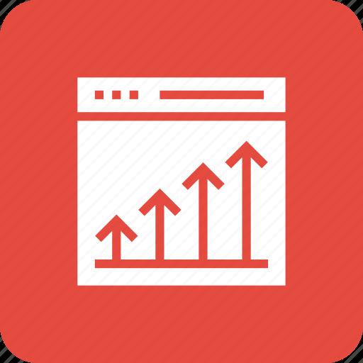 business, cahrt, growth, marketing, seo, success, web icon