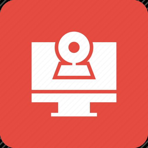 cam, camera, computer, monitor, video, web icon