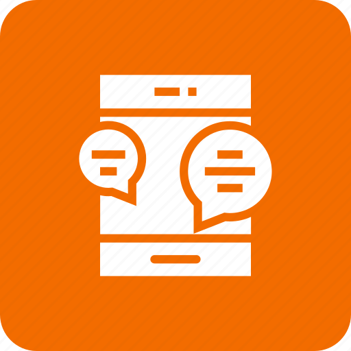 bubble, chat, chatting, communication, mobile icon