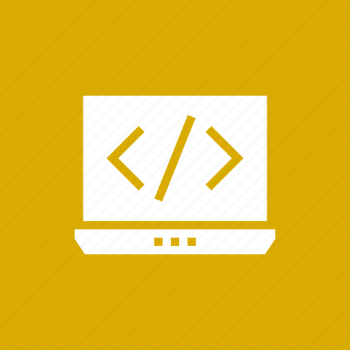 code, computer, notebook icon