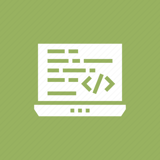 code, coding, development, laptop, programming icon