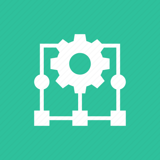 cog, magnifier, optimization, search, settings, share icon