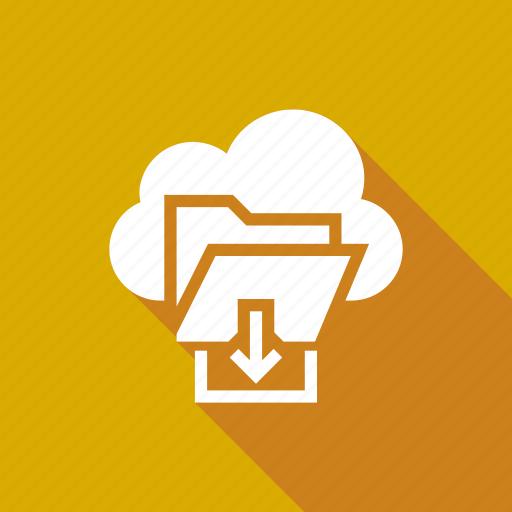 cloud, download, file, folder, storage icon