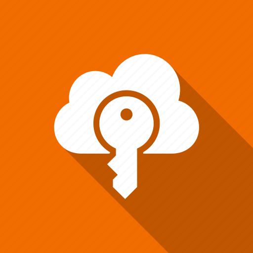 cloud, internet, key, lock, network icon